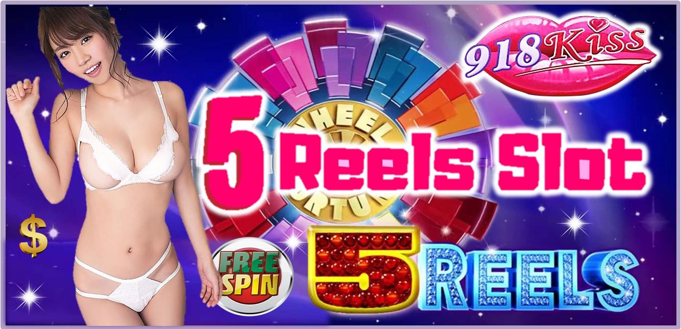 5 Reel Slots At 918Kiss Casino