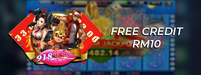 918kiss Free Credit RM10